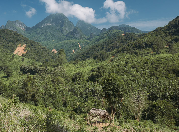 The view of the mountains near Nong Khiaw, Laos