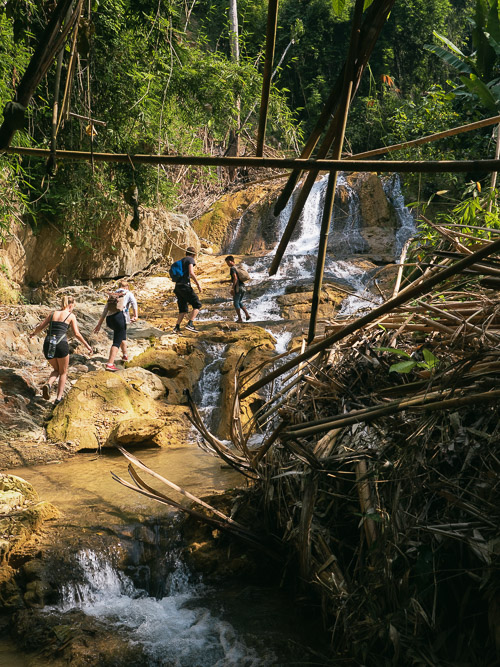 100 waterfalls hike with Tiger Trail near Nong Khiaw, Laos