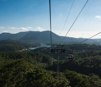 A view of the forests below the cable car from Da Lat Station