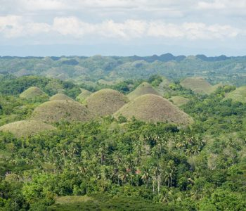 Chocolate Hills complex in Bohol Philippines