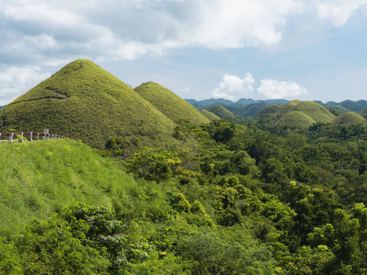 Collection of Chocolate Hills in Bohol Philippines