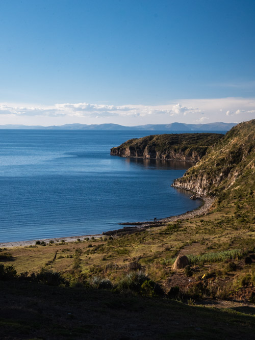 Views of a beach at Challa, Isla del Sol, Bolivia
