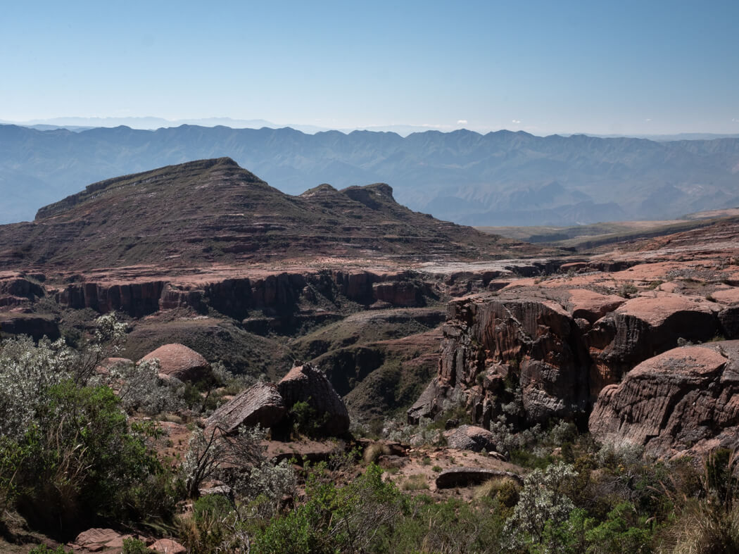 A view of dry rock formations at La Ciudad de Itas, Torotoro National Park, Bolivia