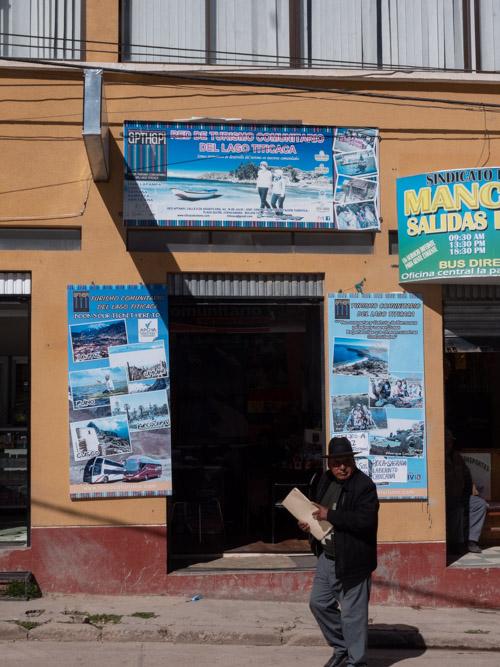 A tourism agency Comuntario del Lago Titicaca, Copacabana, Bolivia