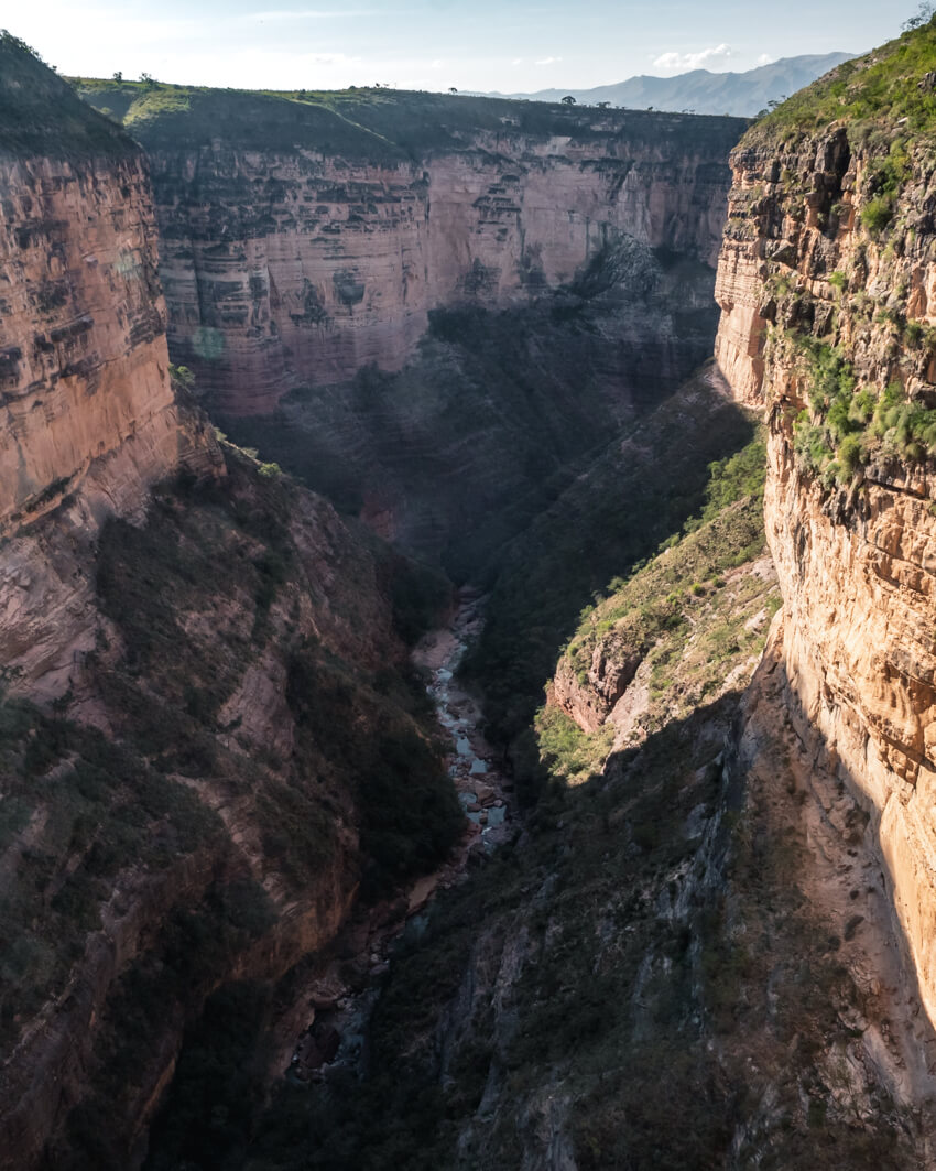 A view of a deep canyon in Torotoro National Park, Bolivia
