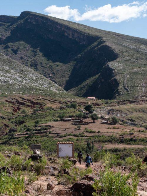 The walk to Cavernas de Umajalanta from the car park. Torotoro National Park, Bolivia