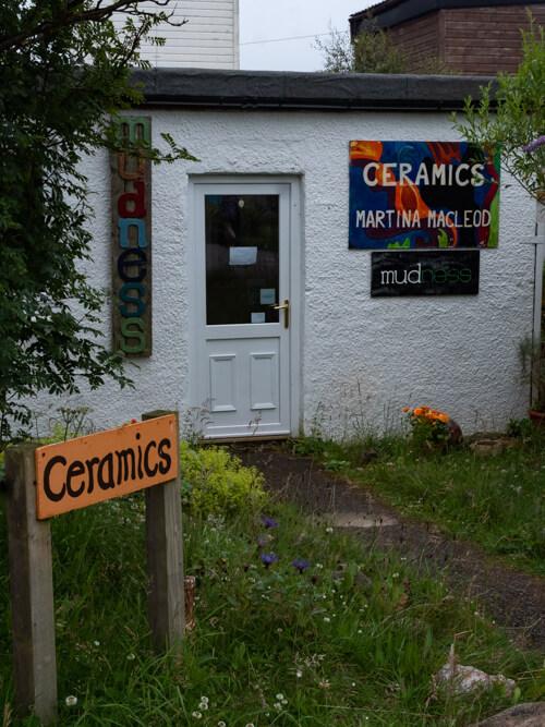 Sign for a craft shop at Balnakeil Craft Village, Durness, Scotland
