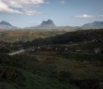 Suilven, Canisp and Cul Mor rise from nowhere near Lochinver