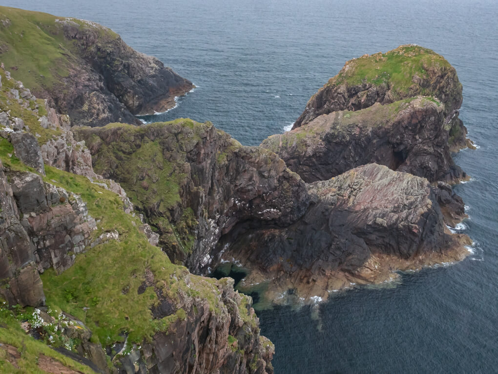 Sea cliffs and stacks on Scotland's north-west coast