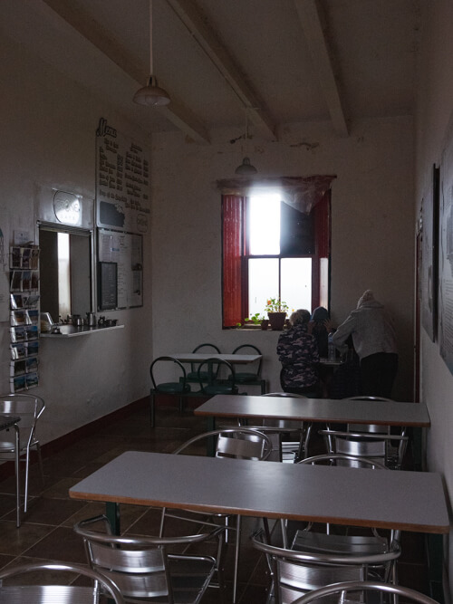Inside the Ozone Cafe, Cape Wrath