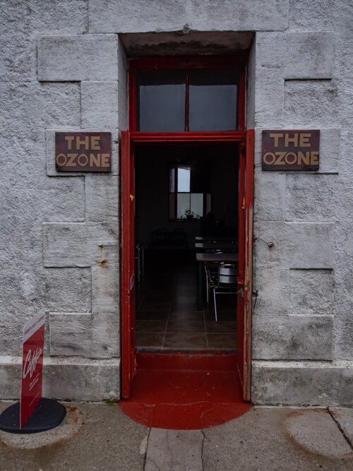 The entry door to the Ozone Cafe, Cape Wrath
