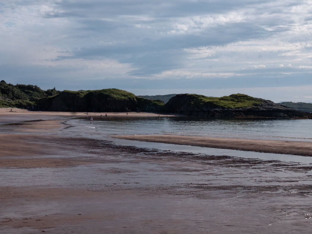 The tide going out on Gairloch Beach, Scotland