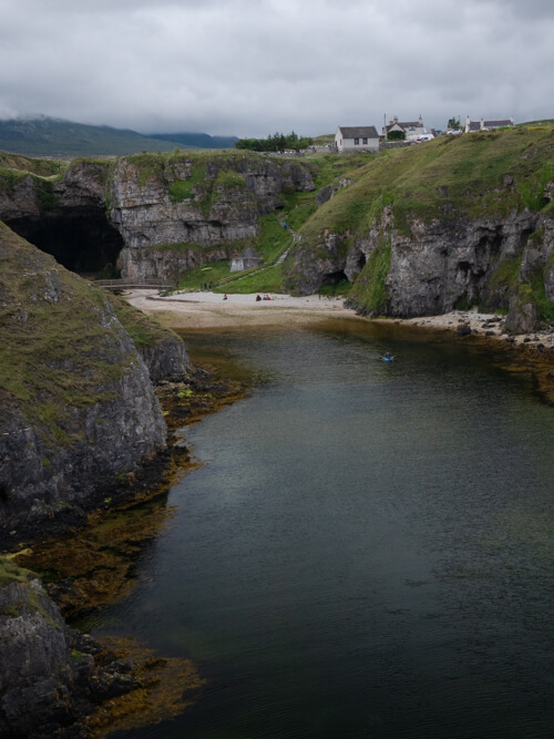 The waters which lead to the beach at Smoo Cave, Scotland