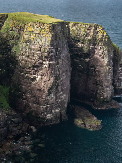 Huge cliffs on Handa Island lead down to the sea