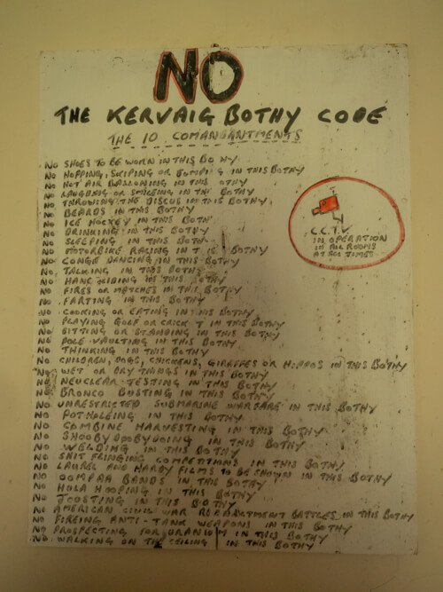 The Kearvaig Bothy code