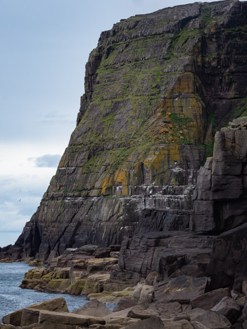 The huge sea cliffs at Kearvaig