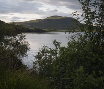 A view of Loch Craggie with hills in the background, Tongue, Scotland