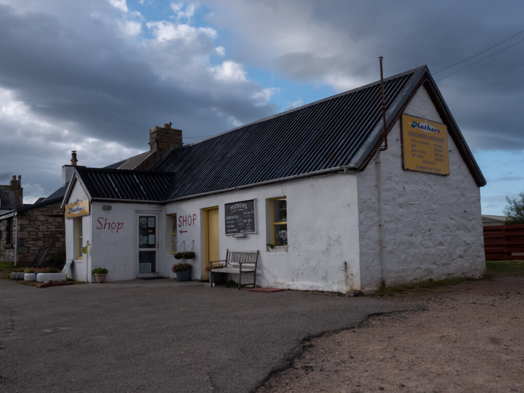 Mathers shop in Durness, Scotland