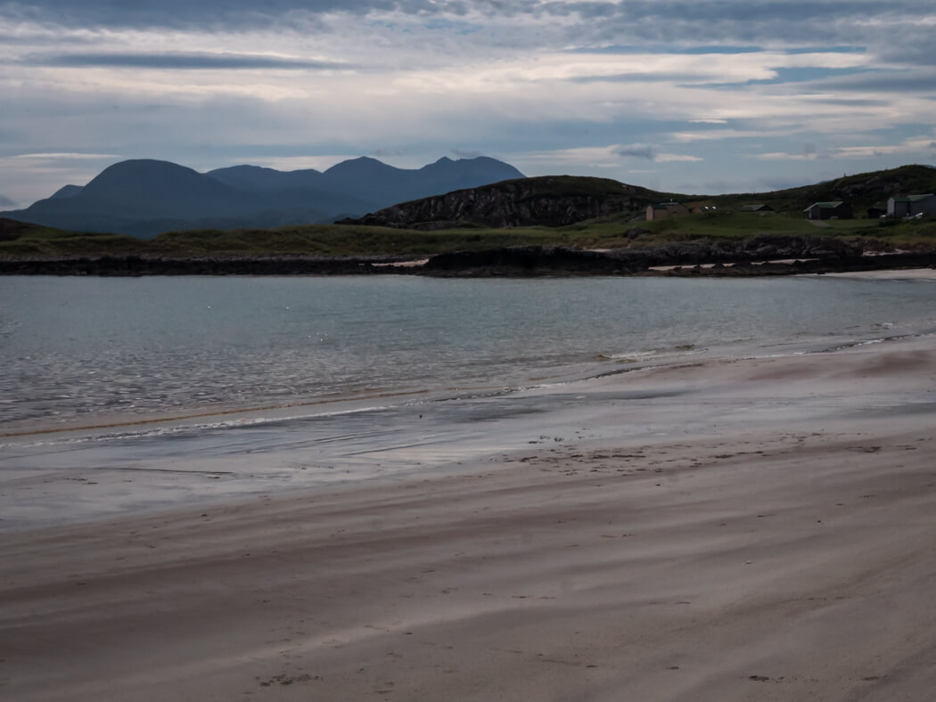 Different colours of water in the sand at Mellon Udrigle, Scotland