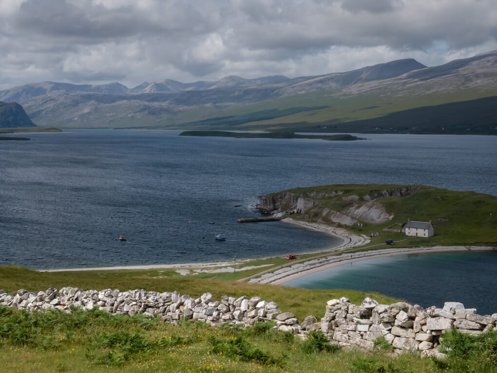The sands of Ard Neakie Lime Kiln on Loch Eriboll, Scotland