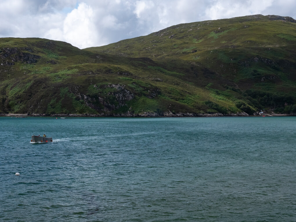 The Cape Wrath ferry in the water