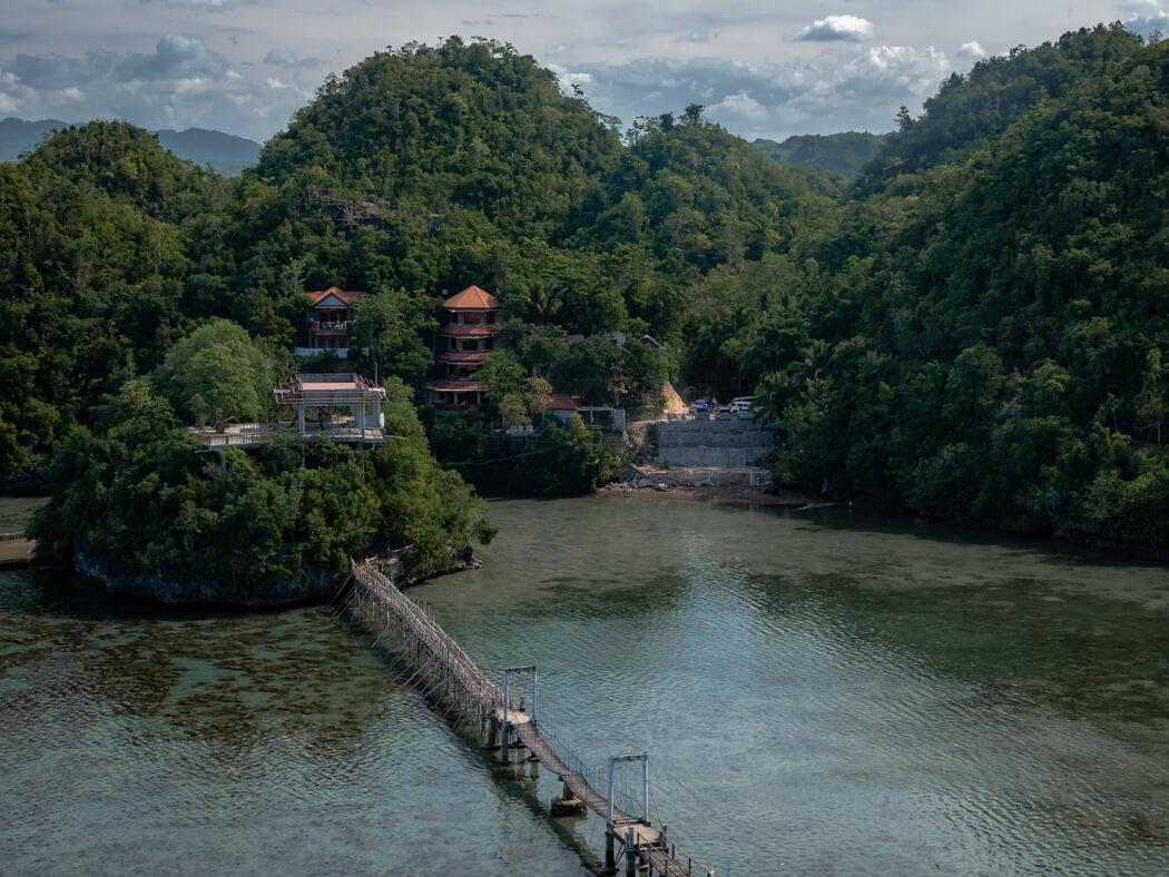 A view of Tinagong Dagat resort, Sipalay
