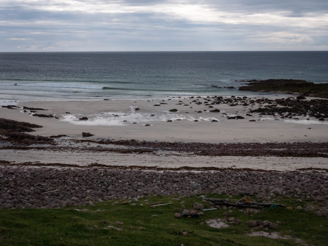 A rugged North Atlantic beach near the Old Man of Stoer