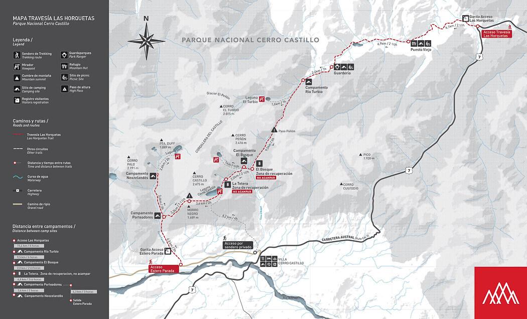 The official trekking Cerro Castillo route