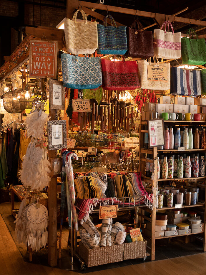 Tourist stores inside the Red Brick Warehouse