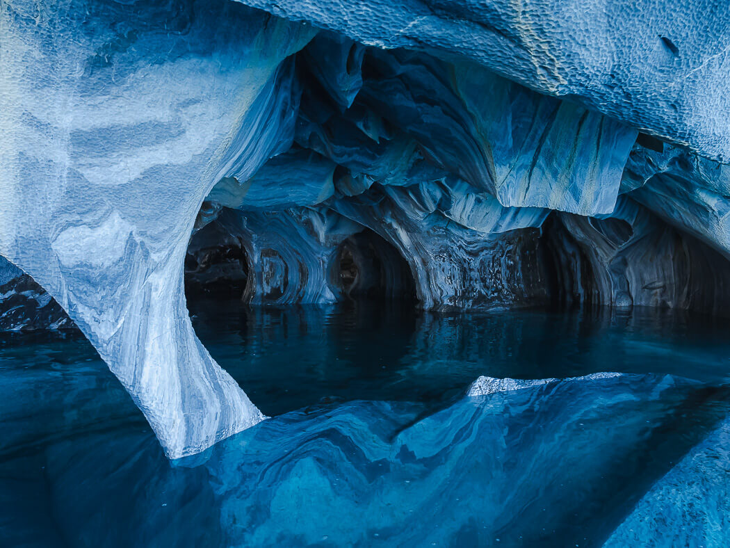 Inside the blue Marble Caves of Patagonia
