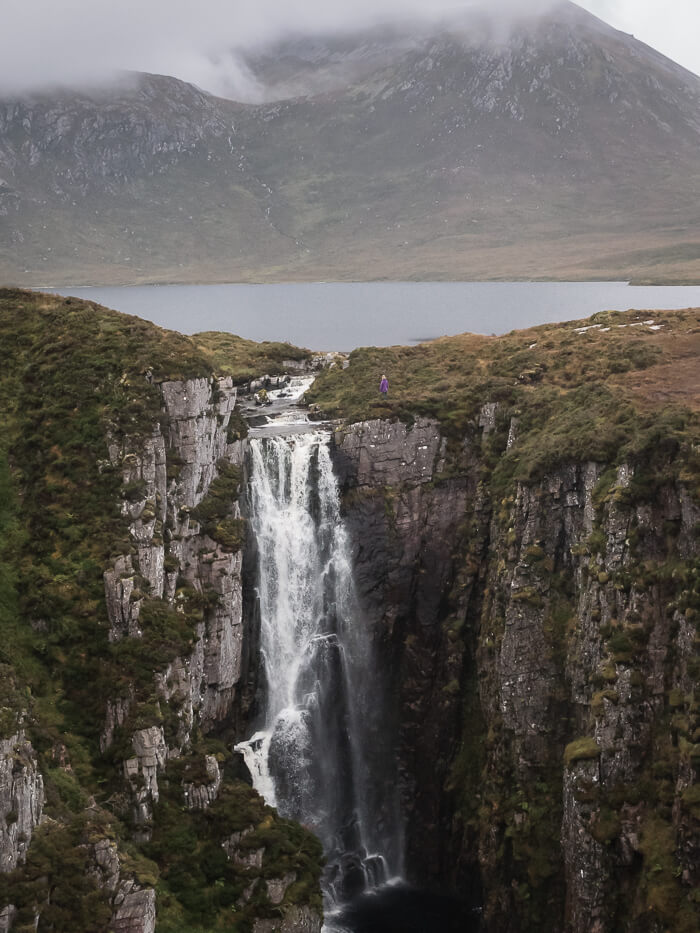 Wailing Widow Waterfall in the north of Scotland